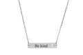 Horizontal Bar Inspirational Necklace Made With Swarovski Crystals By Pink Box