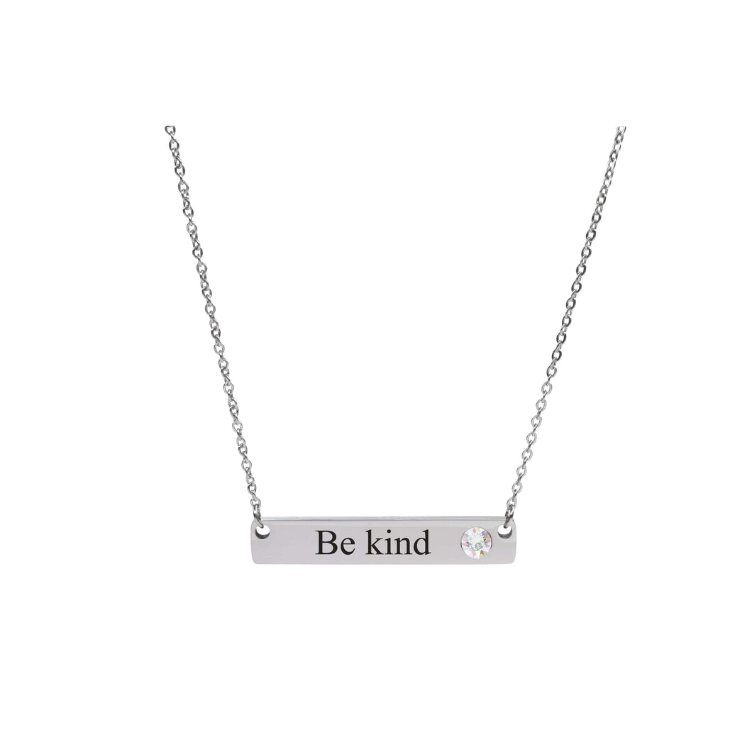 Horizontal Inspirational Bar Necklace Made With Crystals From Swarovski By Pink Box