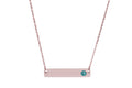 Personalized Birthstone Horizontal Bar Necklace Made With Swarovski Crystals
