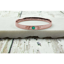 Inspirational Comfort Fit Birthstone Bangles Made With Swarovski By Pink Box