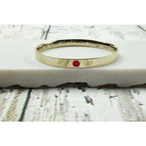 Comfort Fit Birthstone Bangles Made With Swarovski By Pink Box