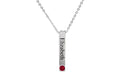 Personalized Birthstone Vertical Bar Necklace Made With Swarovski Crystals