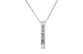 3D Veritcal Bar inspirational Necklace Made With Swarovski Crystals By Pink Box