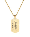 Solid Stainless Steel Inspirational Tag Necklace in Gold by Pink Box