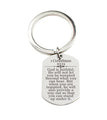 Stainless Steel Scripture Tag Keychain