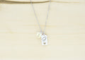 Dainty Initial Frame Necklace Made With Precision Cut Crystal By Pink Box