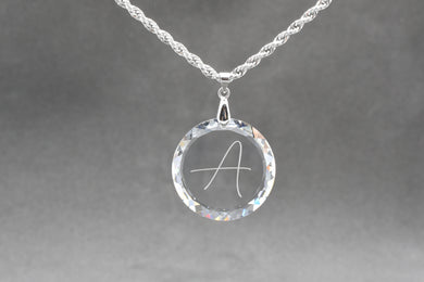 30mm Swarovski Initial Necklace by Pink Box