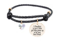 Leather Inspirational Bracelet with AB Heart Crystal from Swarovski - Gold