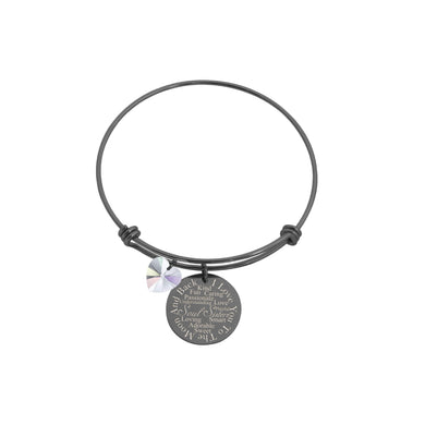 I Love You to the Moon Bangle Made with Crystals from Swarovski