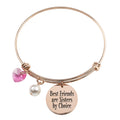 Stainless Steel Inspirational Bangle with Crystals from Swarovski by Pink Box