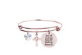 Pink Box Scripture Bangle Made with Crystals from Swarovski