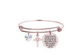 Expandable Scripture Bangle made with Crystals from Swarovski by Pink Box