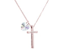 Ladies bible verse cross necklace made with Crystals from Swarovski by Pink Box
