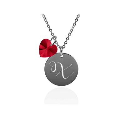 Dainty Initial Necklace made with Crystals from Swarovski