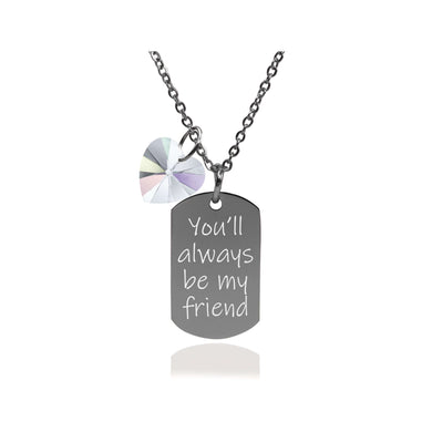 Inspirational Dainty Tag Made With Crystals From Swarovski By Pink Box