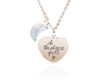 Pink Box Dainty Inspirational Heart Necklace Made With Crystals From Swarovski
