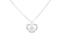 Inspirational Heart Outline Necklace Made With Swarovski By Pink Box