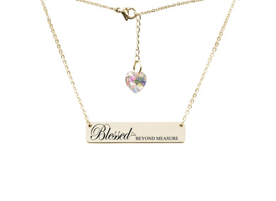 Inspirational Bar Necklace Made with Crystals from Swarovski by Pink Box