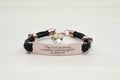 Genuine Leather Bracelet with AB Crystals from Swarovski - Rose Gold