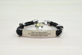 Genuine Leather Inspirational Bracelet with AB Crystals from Swarovski - Silver