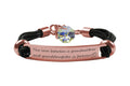 Pink Box Genuine Inspirational Leather ID Bracelet With Crystal from Swarovski