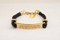 Gold Inspirational Bracelet with Crystals from Swarovski by Pink Box