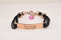 Rose Gold Inspirational Bracelet with Crystals from Swarovski by Pink Box