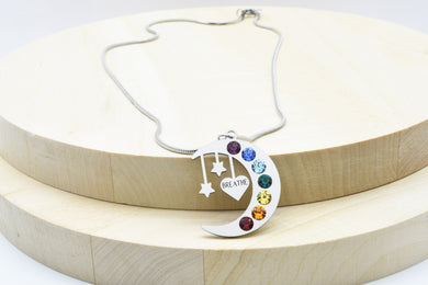Inspirational Moon Chakra Necklace Made With Swarovski by Pink Box