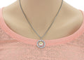 Inspirational Round Outline Necklace Made With Flower Swarovski By Pink Box