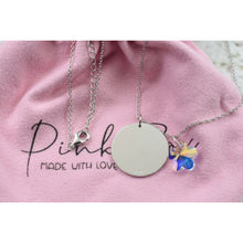 Solid Sterling Silver Inspirational Necklace Made With Swarovski By Pink Box