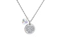 Thick Disc Inspirational Necklace made with Crystals from Swarovski by Pink Box