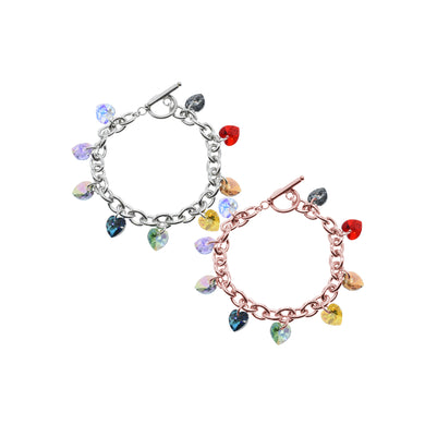 Chakra Toggle Bracelet Made With Swarovski By Pink Box