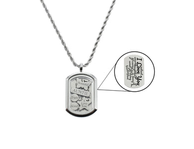 Inspirational Tag Locket With High Grade Cubic Zirconia By Pink Box