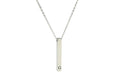 3D VERTICAL BAR INITIAL NECKLACE BY PINK BOX