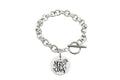 Solid Stainless Steel Inspirational Toggle Bracelet by Pink Box