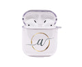 Protective Cursive Font Initial Airpod Case For Versions 1 & 2 By Pink Box