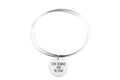 Pink Box Solid Stainless Steel Double Layer Inspirational Bangle