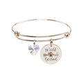 Pink Box Stainless Steel Colorful Inspirational Bangle Swarovski Crystals