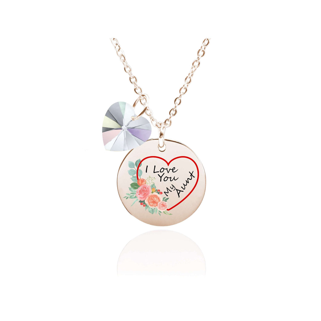 I Love You Necklace Made With Swarovski Crystals By Pink Box