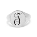 Womens Intial Signet Ring By Pink Box - Size 6 - 8