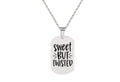 Christmas Themed Tag Necklace By Pink Box