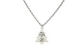 Solid Stainless Steel Christmas Tree Inspirational Necklace By Pink Box