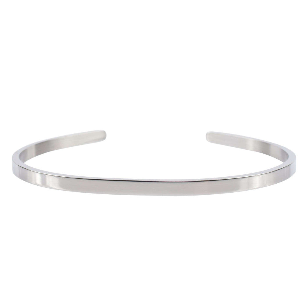3Mm Solid Stainless Steel Cuff