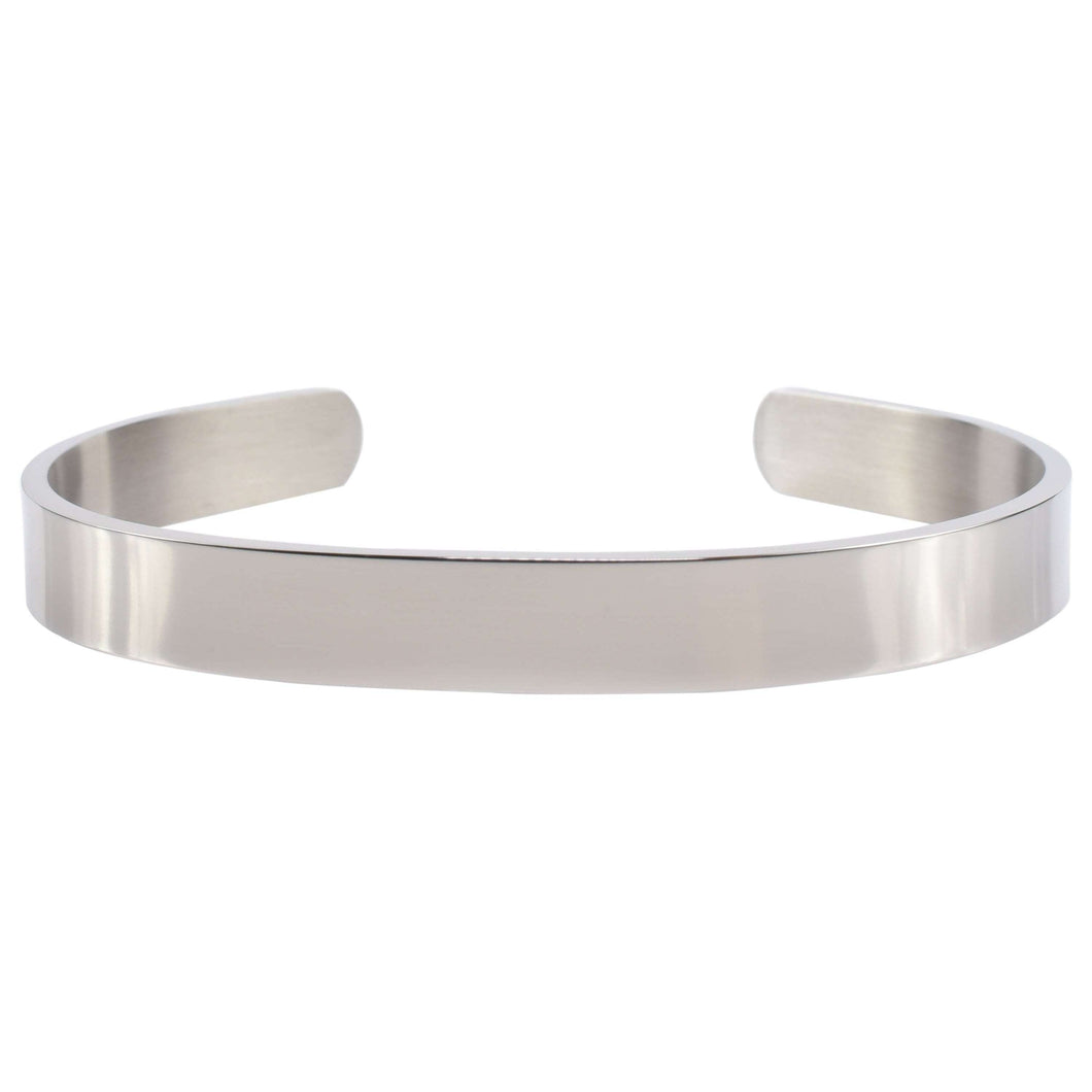 8Mm Solid Stainless Steel Cuff