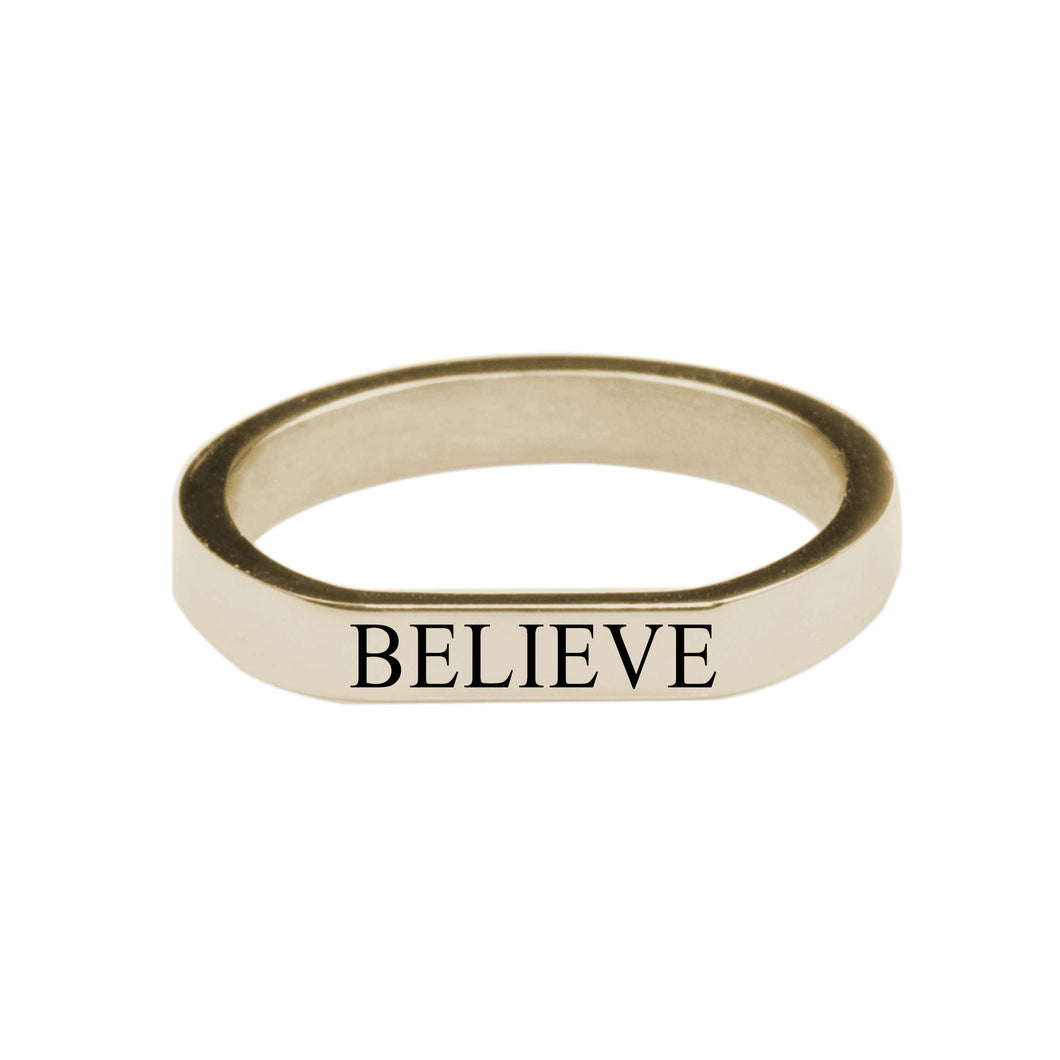 Believe Comfort Fit Flat Ring