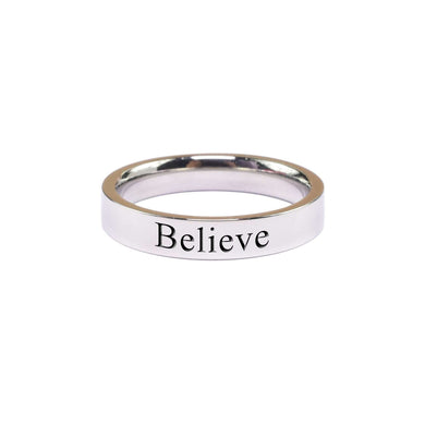 Believe Comfort Fit Ring