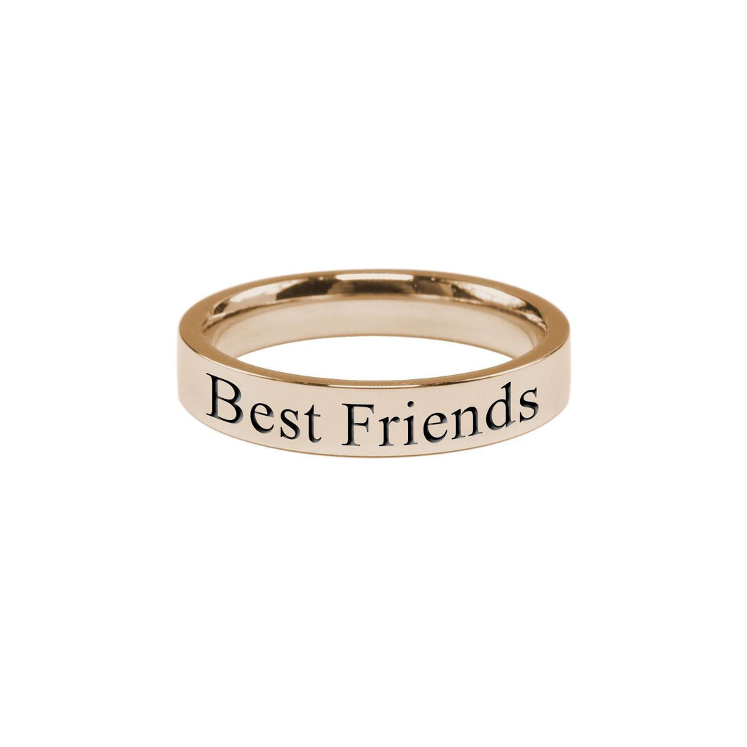 Best Friends Comfort Fit Inspirational Band