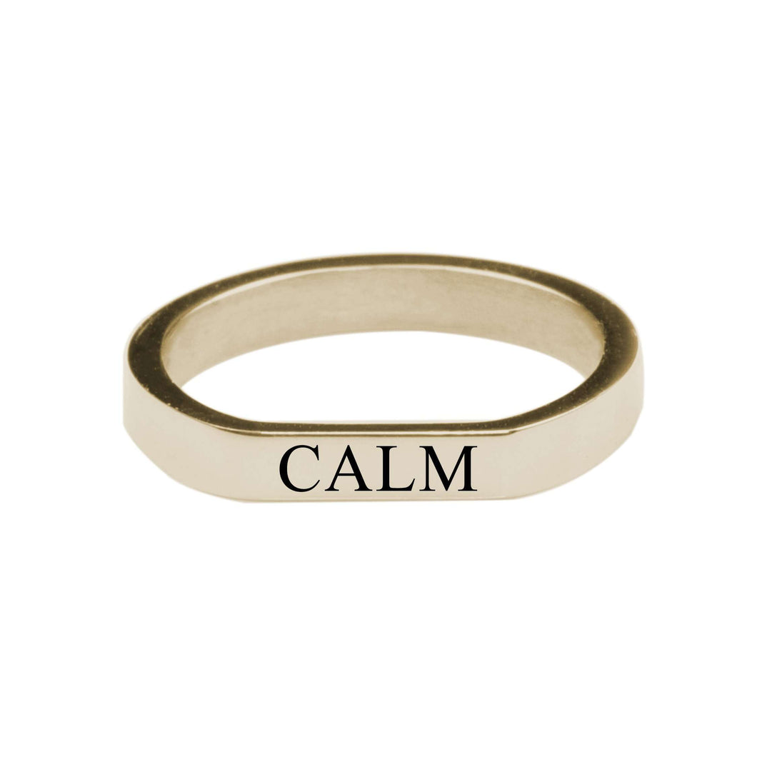 Calm Comfort Fit Flat Ring