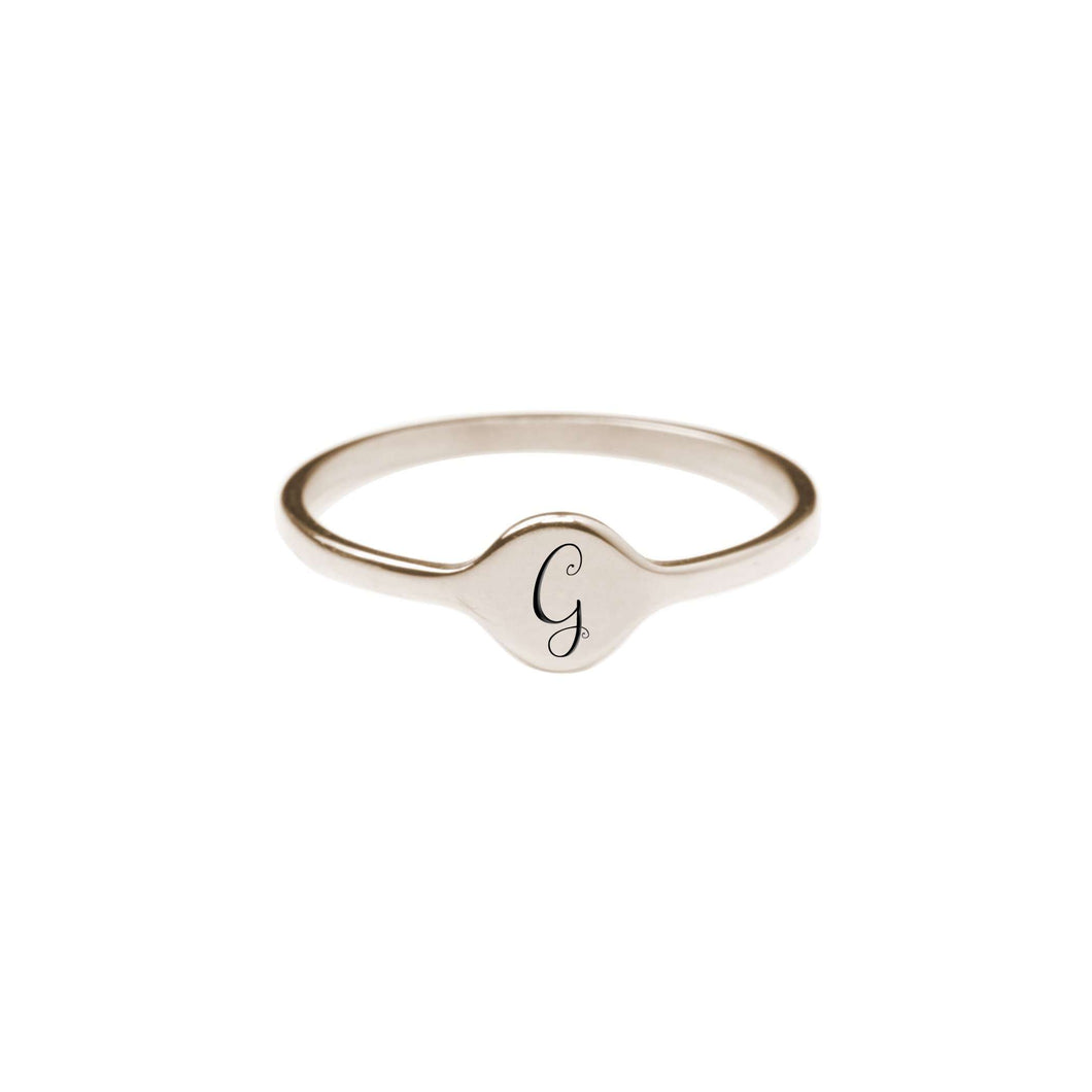 G Comfort Fit Initial Mono Ring