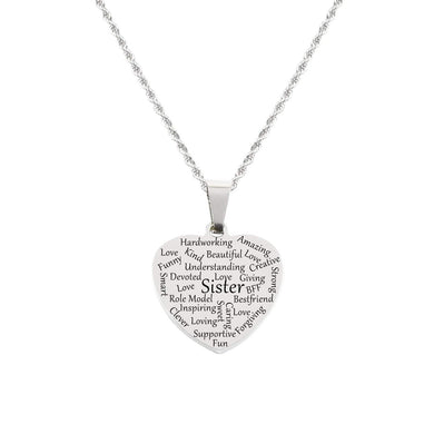 Heart Tag Necklace By Pink Box